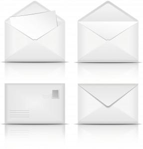 Set of White envelopes.
