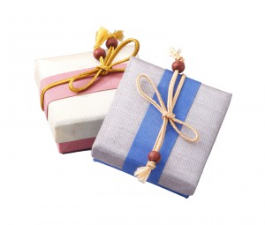 Beautiful gift boxes made of silk